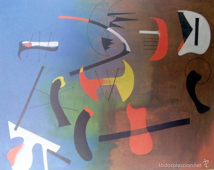 JOAN MIRO - COMPOSICION - LAMINA - MEDIDAS 34 X 43 (Arte - Láminas Antiguas)