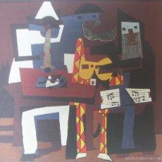 Arte: PABLO PICASSO - LOS TRES MUSICOS (1921) - LAMINA - MEDIDAS 34 X 43. Lote 57573294