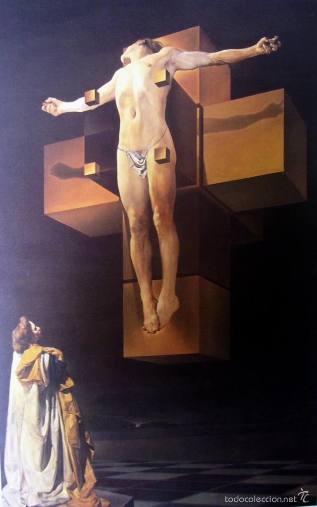 SALVADOR DALI - CORPUS HYPERCUBICUS (1954) - LAMINA - MEDIDAS 34 X 43 (Arte - Láminas Antiguas)
