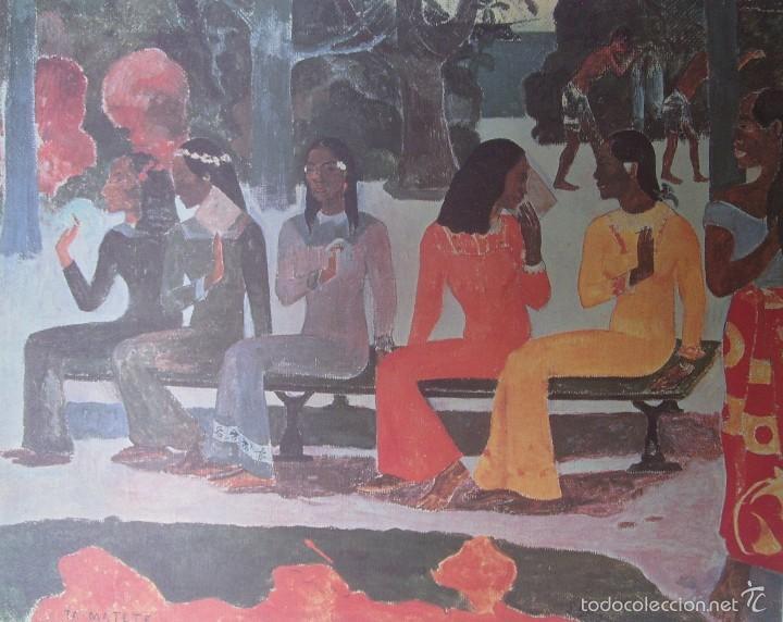 PAUL GAUGUIN - TA MATETE (1892) - LAMINA - MEDIDAS 34 X 43 (Arte - Láminas Antiguas)
