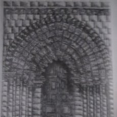 Arte: PUERTA DE LA IGLESIA DE LA MAGDALENA ZAMORA ALFONSO BARTOLOME,32 X 24.. Lote 57627471
