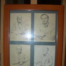 Arte: CONJUNTO DE PEQUEÑOS CROMOS O LÁMINAS CON PERSONAJES CATALANES O RESIDENTES EN CATALUÑA POCO ANTES D. Lote 57762973