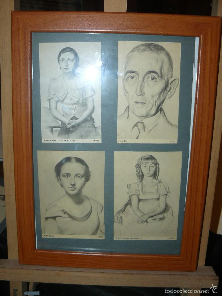 CONJUNTO DE PEQUEÑOS CROMOS O LÁMINAS CON PERSONAJES CATALANES O RESIDENTES EN CATALUÑA POCO ANTES D (Arte - Láminas Antiguas)
