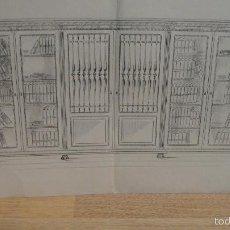 Arte: DISEÑO DE MUEBLE - DIBUJO A LAPIZ , TALLERES RAMON LLIMOS, BARCELONA. Lote 58453847