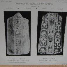 Arte: MATERIAUX ET DOCUMENTS D`ART ESPAGNOL - CASULLAS. Lote 58500150