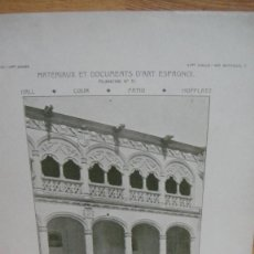 Arte: MATERIAUX ET DOCUMENTS D`ART ESPAGNOL - CONVENTO DE SAN GREGORIO , VALLADOLID. Lote 58500191