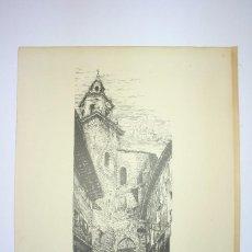 Arte: LÁMINA DE LA IGLESIA DE SAN MIGUEL. VITORIA. S.XX.. Lote 58508374