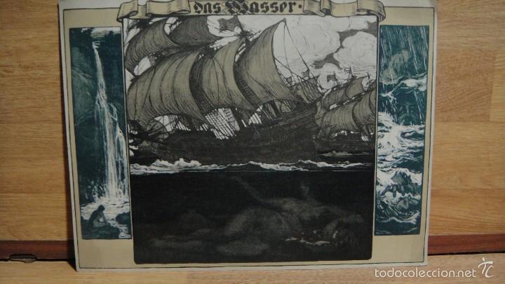 ALEGORIA - DAS WASSER ( ACUATICO, EL AGUA ) (Arte - Láminas Antiguas)