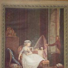 Arte: LÁMINA ANTIGUA FRANCESA ( 1929 ) - L'AMOUR FRIVOLE - BAUDOIN ( MUSEÉ COGNACQ JAY ). Lote 58553438