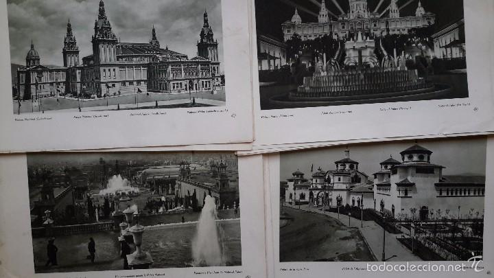 LOTE DE 44 LÁMINAS. FOTOGRAFIA. EXPOSICIÓN INTERNACIONAL DE BARCELONA. AÑO 1929 (Arte - Láminas Antiguas)