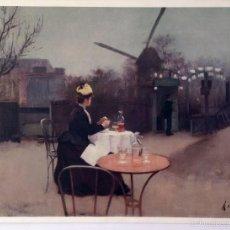 Arte: LAMINA - RAMON CASAS (1866 - 1932) - A PLEIN AIR - MUSEO DE ARTE MODERNO - BARCELONA. Lote 59989131