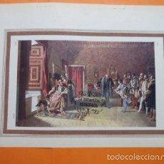 Arte: LAMINA - DON JUAN DE AUSTRIA ES PRESENTADO A CARLOS V. Lote 60369567