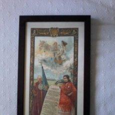 Arte: CARTEL DE SEDA 1901. Lote 60977507
