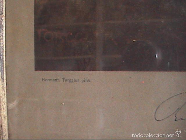 Arte: LAMINA ANTIGUA DE 1930. RETRATO DE RICHARD WAGNER POR TORGGLER.1902. MARCO DE ÉPOCA. - Foto 3 - 60996463