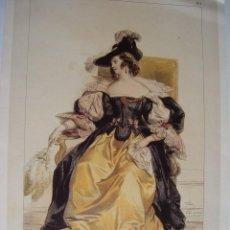 Arte: REPRODUCCIÓN LITOGRÁFICA COSTUME DU XVII SIECLE POR LEMERCIER. Lote 62191532
