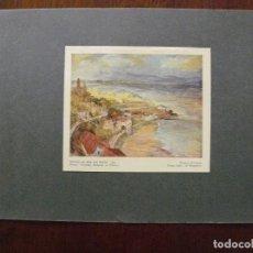 Arte: LÁMINA ANTIGUA - PAISAJE DEL MAR DEL PLATA - PALMIRA SCROSOPPI. Lote 63476776