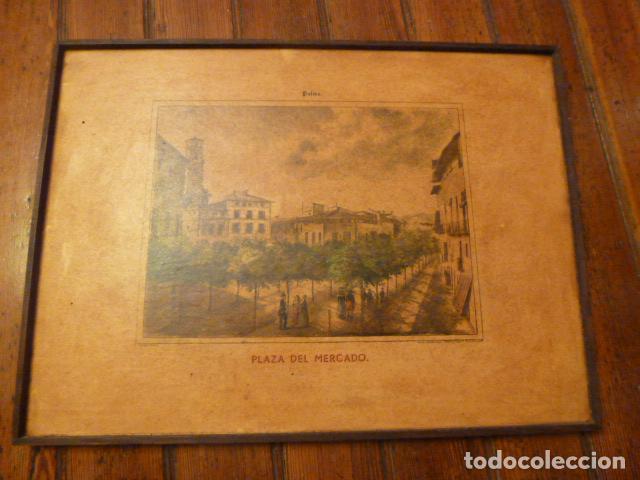 LAMINA MALLORCA PALMA PLAZA DEL MERCADO (Arte - Láminas Antiguas)