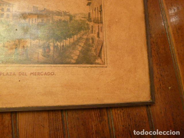 Arte: lamina Mallorca palma plaza del mercado - Foto 3 - 63793575