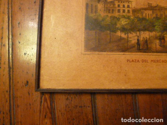 Arte: lamina Mallorca palma plaza del mercado - Foto 4 - 63793575