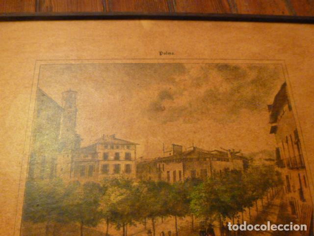 Arte: lamina Mallorca palma plaza del mercado - Foto 8 - 63793575