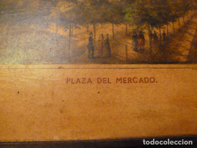 Arte: lamina Mallorca palma plaza del mercado - Foto 9 - 63793575