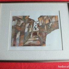 Arte: CUENCA ACUARELA CUADRO ENMARCADO SANCHEZ MUÑOZ RONDA JULIAN ROMERO. Lote 64680687