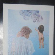 Arte: VIDAL JIMENEZ - MATERNIDAD - LAMINA / LITOGRAFIA - 24X17CM. AÑOS 80. Lote 67181789