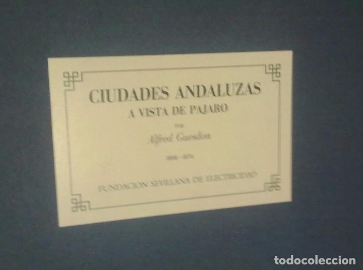 CIUDADES ANDALUZAS A VISTA DE PAJARO. (Arte - Láminas Antiguas)