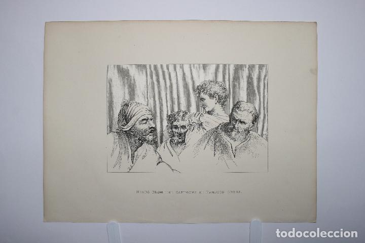 CABEZAS. LÁMINA SIGLO XIX (S.XIX). CUADRO. (Arte - Láminas Antiguas)