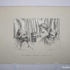 Arte: CABEZAS. LÁMINA SIGLO XIX (S.XIX). CUADRO.. Lote 49750808