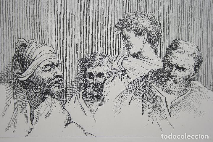 Arte: Cabezas. Lámina Siglo XIX (S.XIX). Cuadro. - Foto 6 - 49750808