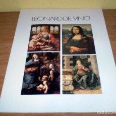 Arte: 4 PRECIOSAS LAMINAS DE LEONARD DE VINCI CON DETALLES DEL CUADRO EN LA TRASERA.. Lote 71145409