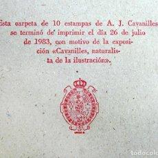 Arte: CARPETA CON 10 ESTAMPAS DE A.J. CAVANILLES. REAL JARDÍN BOTÁNICO.1983. NATURALISTA DE LA ILUSTRACIÓN. Lote 72280771