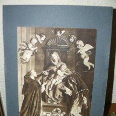 Arte: ANTIGUA LÁMINA - LA VIRGEN DEL ROSARIO DE CERESA CARLO. Lote 73697151
