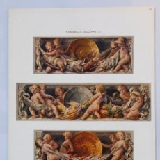 Arte: LÁMINA MODERNISTA ITALIANA. PANNELLI DECORATIVI. PROF. ANGELO COMOLLI. PRINCIPIOS SIGLO XX.. Lote 73861554