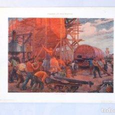 Arte: LÁMINA MODERNISTA ITALIANA. PANEL SOBRE LA INDUSTRIA. PIERETTO BIANCO. ESPOSIZIONE VENECIA 1912.. Lote 73861830