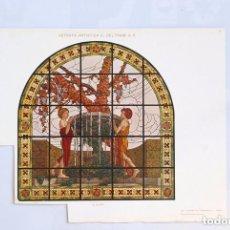 Arte: LÁMINA MODERNISTA ITALIANA. VETRATA ARTISTICA. G. BELTRAMI & C. G. BUFFA. PRINCIPIOS SIGLO XX.. Lote 73861846