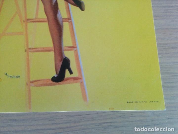Arte: Lámina pin-up art-deco 1950 - Foto 3 - 74655427