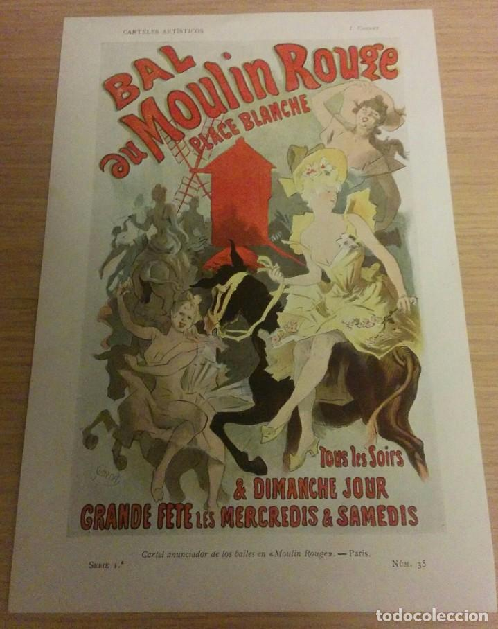 CARTEL LAMINA MOULIN-ROUGE 1901 (Arte - Láminas Antiguas)