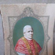 Arte: LÁMINA DEL PAPA PIO IX / ELEGIDO PAPA EN 16 JUNIO 1846 / SUBIRANA EDITORES / BARCELONA / BIOGRAFÍA P. Lote 112843212