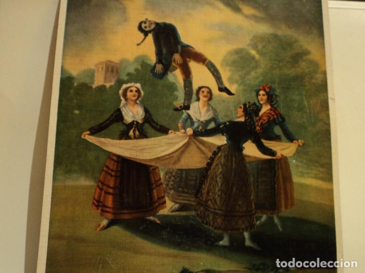 GOYA, EL PELELE LÀMINA EN CARTÒN DE BARGALLÒ, BARCELONA, 25 * 22 CMS. (Arte - Láminas Antiguas)