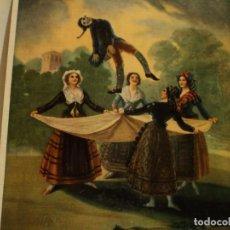 Arte: GOYA, EL PELELE LÀMINA EN CARTÒN DE BARGALLÒ, BARCELONA, 25 * 22 CMS.. Lote 77560505