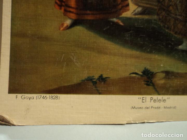 Arte: goya, el pelele làmina en cartòn de Bargallò, Barcelona, 25 * 22 cms. - Foto 2 - 77560505