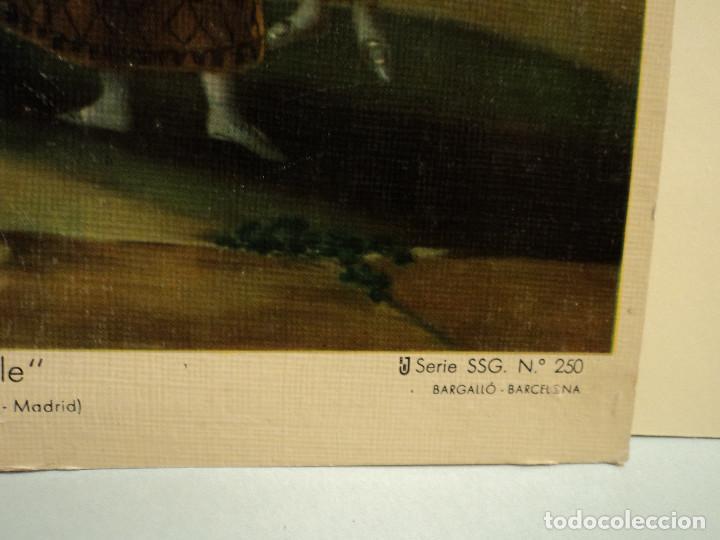 Arte: goya, el pelele làmina en cartòn de Bargallò, Barcelona, 25 * 22 cms. - Foto 3 - 77560505