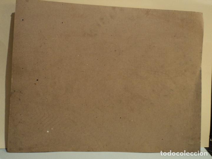 Arte: goya, el pelele làmina en cartòn de Bargallò, Barcelona, 25 * 22 cms. - Foto 4 - 77560505
