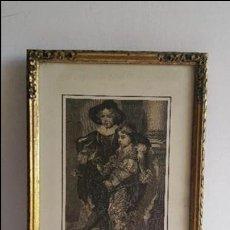 Arte: CUADRO GRABADO AÑOS 70 CON MARCO ORIGINAL MADERA. Lote 77945401