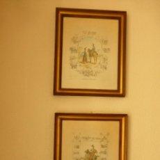 Arte: LOTE DE DOS CUADROS CON LÁMINAS DE EQUIPAGES MILITAIRES. Lote 78123549