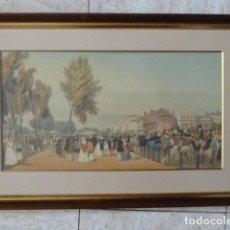 Arte: PRECIOSA LAMINA DE CIUDAD. ENMARCADA CON CRISTAL. 37 X 53 CM MEDIDAS CON MARCO.. Lote 78310877