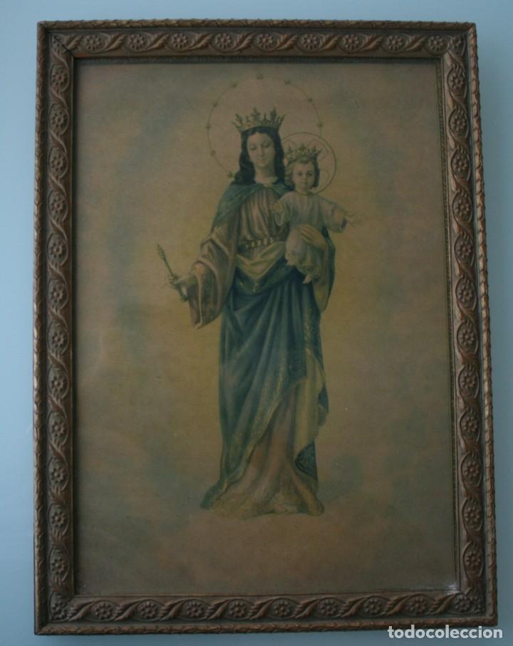 cuadro magnifica antigua lamina de la virgen ma - Comprar Láminas ...