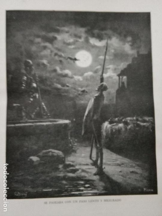 KK - LAMINA GRABADO DE DORE - DON QUIJOTE DE LA MANCHA - ORIGINAL EDITADA EN MEXICO AÑOS 50 (Arte - Láminas Antiguas)
